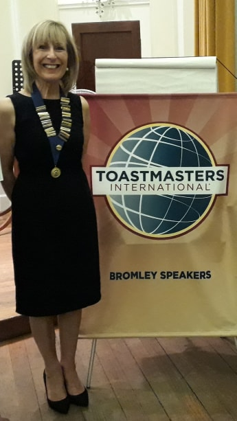 Bromley Speakers President, Christine Morrell